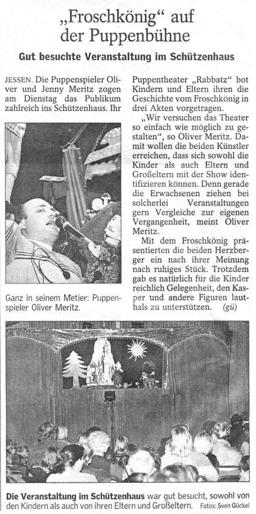 Rabatz Puppentheater im Schützenhaus