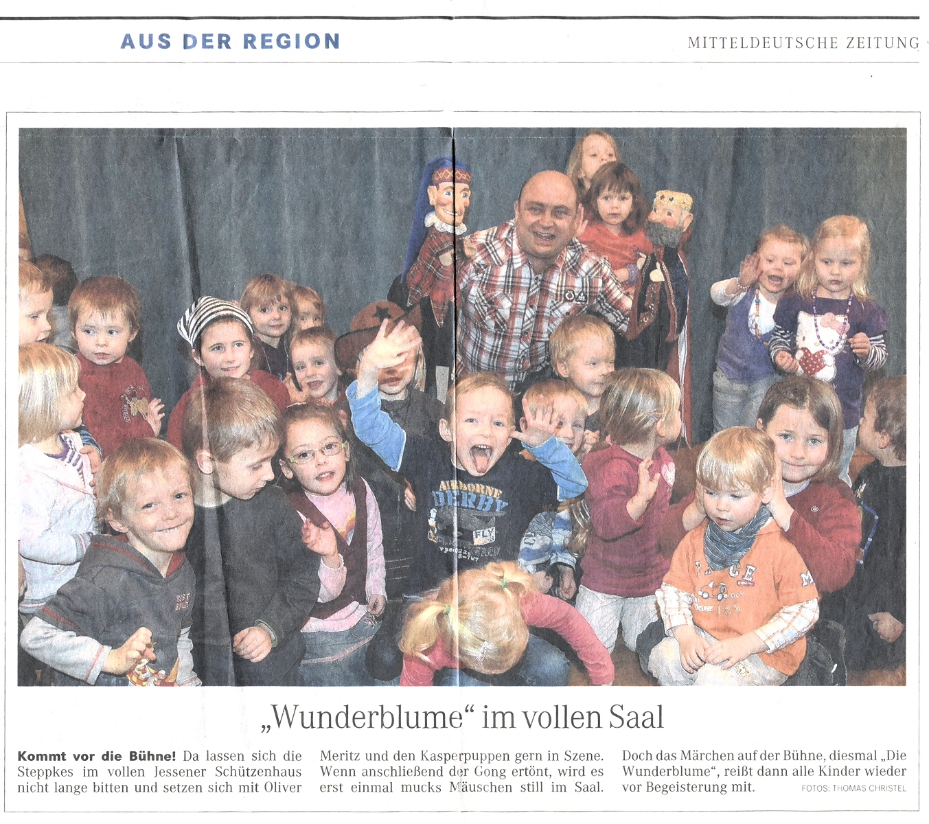 Rabatz Puppentheater im Jessener Schützenhaus