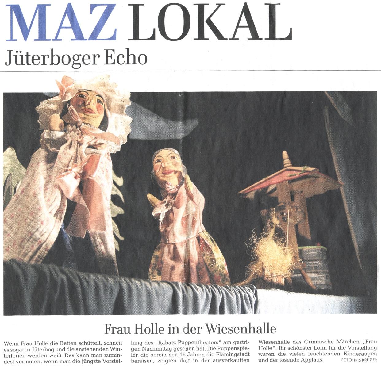 Rabatz Puppentheater in der Wiesenhalle